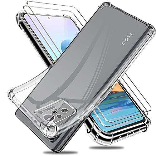Funda para Xiaomi Redmi Note 10 Pro con Dos Cristal Templado Protector...