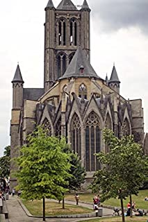 St. Nicholas Church in Ghent Belgium Journal: 150 Page Lined Notebook/Diary