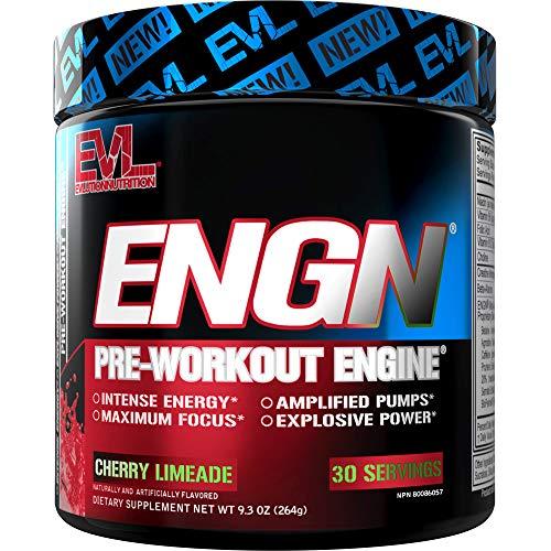 Evlution Nutrition ENGN Pre-Workout, Pikatropinfrei, 30 Portionen, intensives Pre-Workout Pulver für mehr Energie, Power und Fokus (Cherry Limeade)