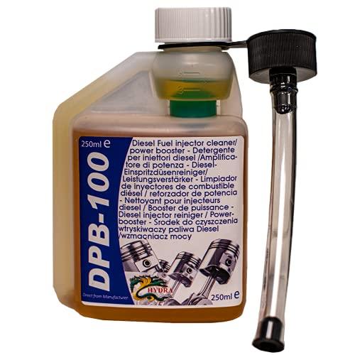HYDRA DPB-100 Diesel Power Blast Fuel Injector Cleaner Cleaning diesel injectors for a cleaner injector diesel suitable all diesel engines ideal additive for diesel cleaning 250ml treats 250L