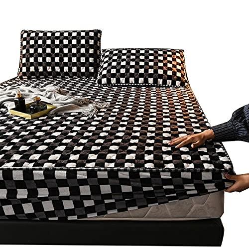 Protector de colchón Acolchado 180x200cm Bajeras Ajustables Microfibra - Transpirable - Funda Bedding Sábana Bajera Ajustable (Color : G, Size : 180x220CM)