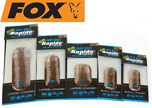 FOX Edges Rapide Refills Fast Melt - PVA Beutel zum Anfüttern von Karpfen & Friedfischen, wasserlösliche Taschen für Grundfutter, Größe/Packungsinhalt:85x220mm - 20 Stück
