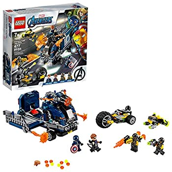 LEGO Marvel Avengers Truck Take-Down 76143 Captain America and Hawkeye Superhero Action Cool Minifigures and Vehicles  477 Pieces