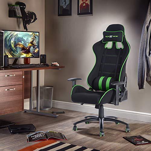 FurnitureR Silla ergonómica para juegos Silla ajustable para jugadores de deportes electrónicos, silla para videojuegos para adultos,...