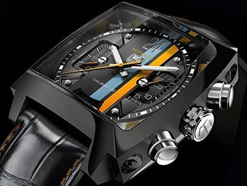 TAG Heuer Monaco 24 Calibre 36 CAL5110.FC6265 - Cronografo automatico Limited Edition (1000 esemplari mondiali) con vetro zaffiro, cinturino in pelle di coccodrillo