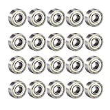 Donepart 20 Pcs Skateboard Bearings 608 ZZ C3 High Speed 8x22x7mm Double Shielded Ball Bearings for Skateboard, 3D Printer, Motors, Fidget Spinner, Roller & Inline Skate