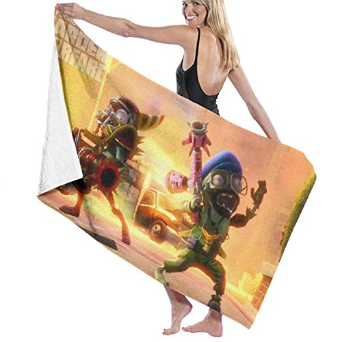 XCNGG Plants vs Zombies Bath Towel Portable Lightweight Beach Towels Travel Sports Throw Towel¡¤Super Absorbent¡¤Ultra Compact¡¤for Camping,Gym,Etc.