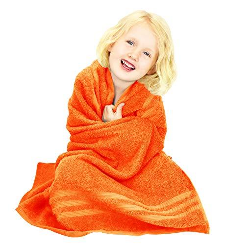 Lashuma Handtuch Orange - Clementinen, Badetuch 100x100, London Kinderhandtuch Frottee
