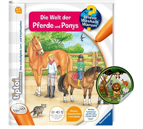 Collectix Ravensburger tiptoi Buch Band 13 | Die Welt der Pferde und Ponys + Kinder Tier-Sticker | ab 4 Jahren
