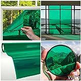 VViViD Transparent Colorful Vinyl Window Tinting Sheets (1.49ft x 5ft, Green)