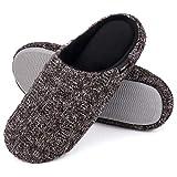 Snug Leaves Damen Baumwolle Memory Foam Hausschuhe Terry Tuch Anti Skid Schuhe von HomeIdeas Schwarz,40-41 EU
