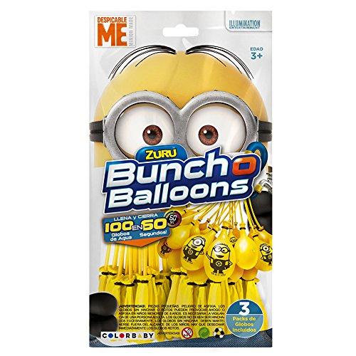 XSHOT X-Shot–Bunch-O-Balloons, 100Wasserbomben-Ballons, Die Minions-Design