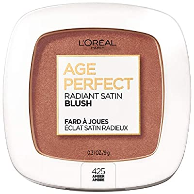 L'Oreal Paris Age Perfect Radiant Satin Blush Formulated with Camellia Oil - Silky Smooth Powder Enhances Look of Cheeks - Available in 6 Luminous Shades