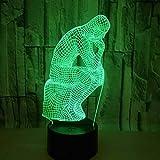 Progettazione 3D: progettazione grafica 2D, che offre divertimento visivo 3D. L'illuminazione domestica con effetti di luce unici rende la tua stanza più interessante. Modalità di ricarica: alimentatore USB, può essere collegato al computer, alimenta...