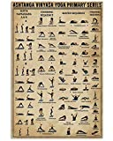 Ashtanga Vinyasa Yoga Primary Series Poster-Wall Decor Art