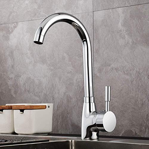 GAVAER Wasserhahn Küche,360° Drehbar Küchenarmatur, Geeignet für Spültischarmatur und Waschtischarmatur.Kaltes und Heißes Wasser Vorhanden, Messing Verchromt, Lebenslange Garantie.