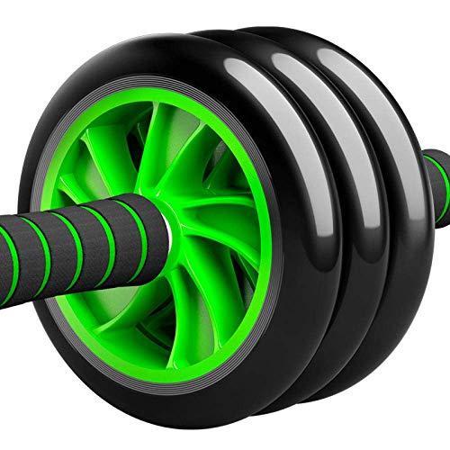 GPWDSN buikwiel en 4-wielen, fitnessapparaten voor thuis en op kantoor, voor mannen en vrouwen, met elastisch kniekussen