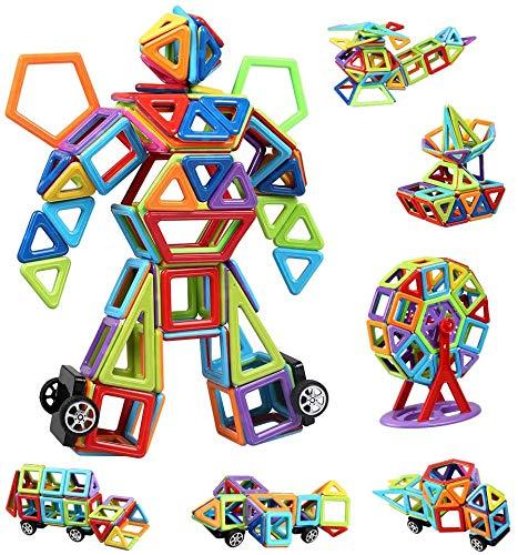 infinitoo Blocchi Costruzioni Magnetiche Puzzle Costruzioni Magnetiche per Bambini Kit di Blocchi Magnetici 109 Pezzi per Sviluppare l'Intelligenza e la Memoria di Bambini