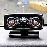 車のコンパスと時計 カーコンパスバランスメーターレベルのカースロープメータースリーインワン、自動車ボートバイクオートバイ用など