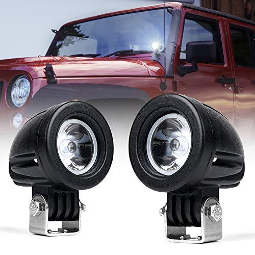 Xprite 10 Watt 2-inch CREE High Power Off-Road LED Spot Light for Motorcycle Off-Road Vehicles Pickup Truck UTV ATV - 2 Pack