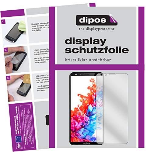 dipos I 2X Schutzfolie klar kompatibel mit TP-Link Neffos C7 Lite Folie Bildschirmschutzfolie (bewusst Kleiner als das Glas, da Dieses gewölbt ist)