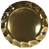 5 piatti maxi 32,5 cm oro lucido da portata sottopiatti