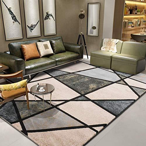 ZWWZ Geometrische abstrakte Sammelbereich Teppiche, innen Moderne rutschfeste Teppiche für Wohnzimmer Schlafzimmer Kinderzimmer Essbodenmatte-e 63x91inch (160x230cm), G, 63x91inch (160x230cm) MISU