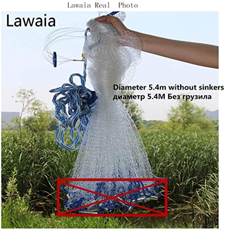 Lawaia Fishing Network for Fishing Garnalen Aquarium 7m Fish Net Catch Fishing Net Without Sinker and Ring Diameter 2.47.2m   Diameter 540noSinker