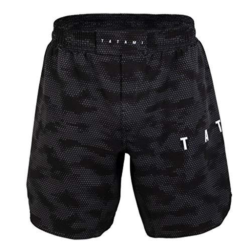 Tatami Fightwear Standard Edition Black Digital Camo Fight Shorts Men's Kurze Hose Herren MMA BJJ Kampfsport Boxen Grappling Muay Thai No Gi
