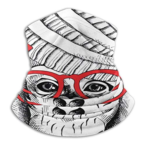 VOROY Turbante facial adecuado para gafas de sol, calentador de cuello, polaina, pasamontañas de forro polar para hombres y mujeres, bufanda, cubierta de tubo, bandanas a prueba de viento para moto