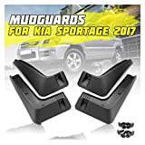 LWLD Guardabarros de Coche Fender Mudaguarderos Splash Mudflaps para Kia Sportage QL 2017 2018 2018 2019 Antisalpicaduras