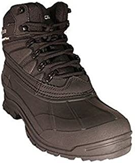 Zanco Men's Extra Wide Width Waterproof Black Leather Boots #3701