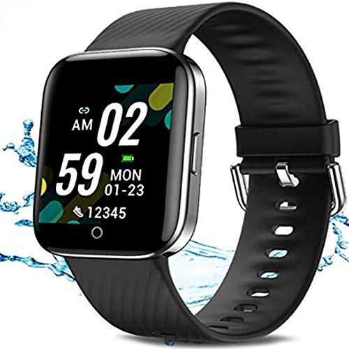 UWINMO Smart Watch, Fitness Tracker with Heart Rate Monitor, Information Reminder Activity Tracker Pedometer, Waterproof smartwatch Sport Watch Compatible Android iOS Phones,for Women and Men