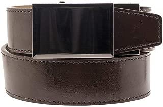 2019 Go-In! Shield V.3 Espresso Leather Golf Belt for Men with Adjustable Ratchet Buckle and Hidden Ball Marker - Nexbelt Ratchet System Technology
