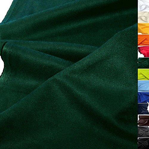 TOLKO Kunstleder Meterware - Wildleder Alcantara-Imitat, Abriebfester Mikrofaser Polsterstoff, Möbelstoff als Sitzbezug, für Kissen (Dunkel-Grün)