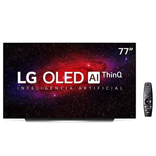 Smart TV OLED 77 LG 4K, 4 HDMI, 3 USB, ThinQ AI com Smart Magic - OLED77CXPSA