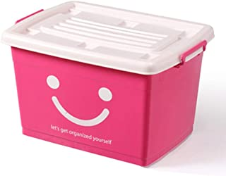 PPCP Storage Box Plastic Clothes Storage Box Thickening Storage Box (Color : Pink)