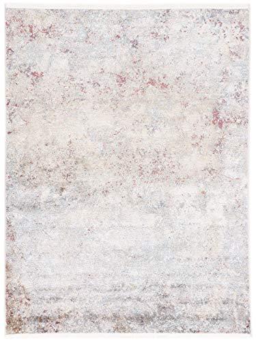 CarpetFine: Moderner Vintage Stains Teppich 140x200 cm Beige - Abstrakt