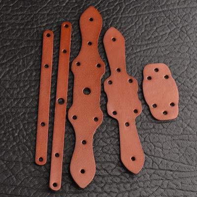 Craft gesp huidherstel lederen band verbinden van de verbindende band de band patch leren band,roodbruin