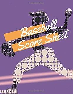 Baseball Score Sheet: baseball scorekeeper book | Softball Score Record Book | Gift for Coach & Baseball Fans | wall score...