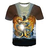 Camisetas Godzilla T-Shirt Kids 3D Shirt Print King Monster niños Godzilla Tops tee para niños niñas-UNA_S
