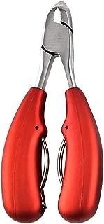 Toe Nail Clippers Ingrown Toenail Tool Thick Toenails Cuticle Trimmer Nippers Ingrown Toenail for Seniors Toe Fungus Treatment Manicure Bevel Red