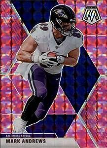 2020 Mosaic Football Prizm Camo Pink #22 Mark Andrews Baltimore Ravens Official Panini NFL Trading Card