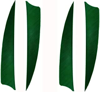 Zhan Yi Archery Fletchings Real Turkey Shield Feathers 4 inch Full Length 50 Pack Glued Right Wing for Arrows DIY