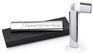 Personalised Silver Toothpick Holder With Toothpicks and Box - Engraved