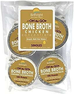 Organic Chicken Bone Broth Collagen Concentrate, Single Serve Cups, Organic Chicken Bone Broth with 18 Grams of Protein and 20 Grams of Collagen Per Serving (Chicken, 4 Servings)