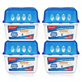 Vacplus Moisture Absorber Box - 4 Packs, 16OZ Reusable Dehumidifier for Closet, Unscented Moisture Absorbers for Rooms with Visible Dehumidification, Household Humidity Absorbers with Large Capacity (Nickname:VA-M364)