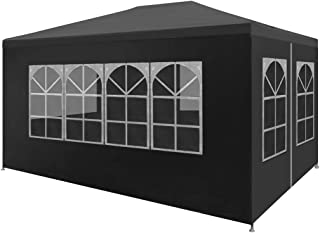Festnight 9' x 13' Garden Outdoor Gazebo Canopy with 4 Sides Removable Walls and Zip Doors Heavy Duty Waterproof Patio Party Wedding Tent BBQ Shelter Pavilion Cater Events