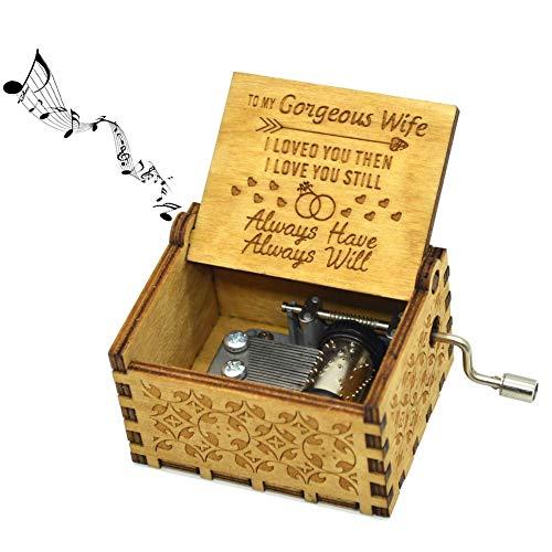 """Spieluhr für Frau, """"You are my sunshine"""" Musikbox für Ehefrau, """"You are my sunshine"""" mit Holzhandkurbel, Musikbox für Ehefrau, Geburtstagsgeschenk"""