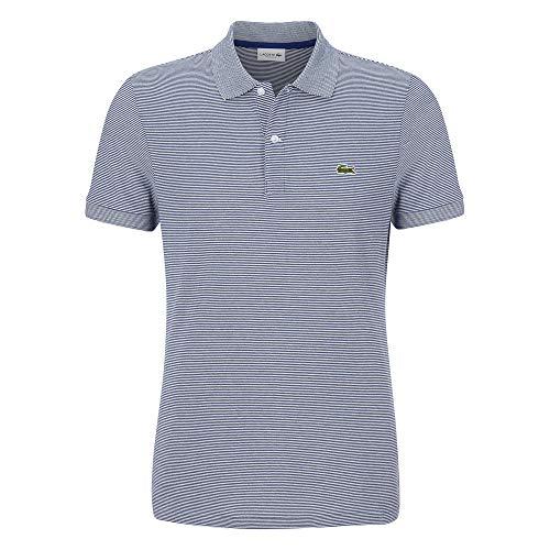 Lacoste Herren PH6784 Polo Shirt Kurzarm, Männer Polo-Hemd,2 Knopf, Regular Fit,Methylene/Flour(RU0),Medium (4)